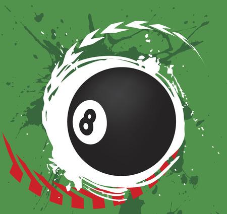 poolball: Billiard splash.Abstract vector illustration. Illustration