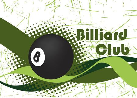 poolball: Billiard wave.Abstract vector illustration. Illustration