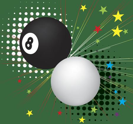 poolball: Billiard balls in action.Vector illistration.