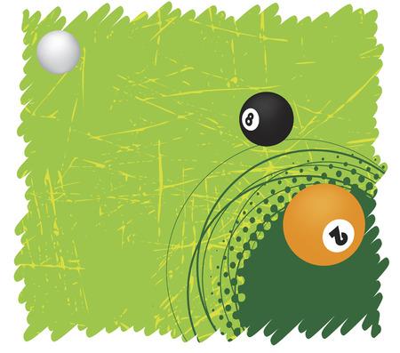 poolball: Green billiard motive..Vector illistration.