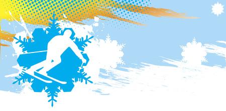 Ski banner.Abstract vector illustration. Vector