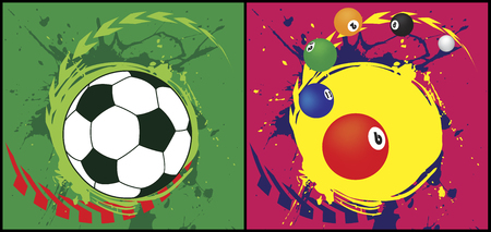 millions: Splash backgrounds.Abstract vector illustrations.