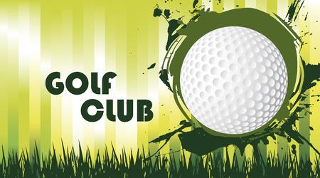 golf field: Green golf field