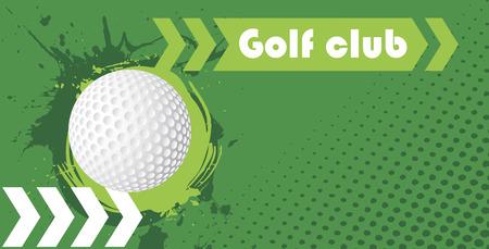 golfclub: Horizontale golfclub banner