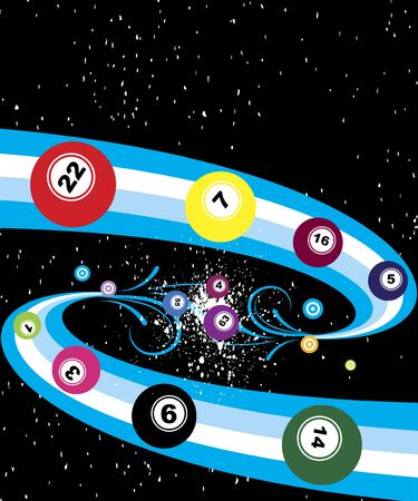 millions: Starry bingo banner Illustration