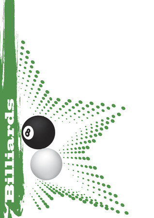 Green billiard star Vector