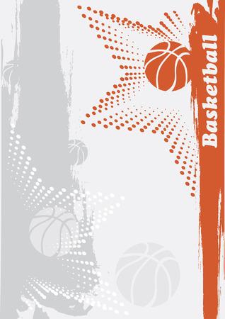 baloncesto: Bandera de baloncesto abstracto