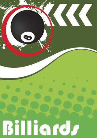 billiard: Vertical billiard poster
