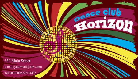 discoteque: Colorful dance club business cadr