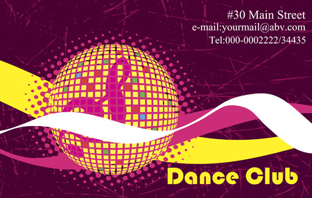 limelight: Pink background for dance club Illustration