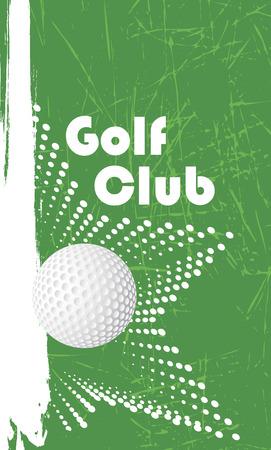 golfclub: Golf club verticale banner Stock Illustratie