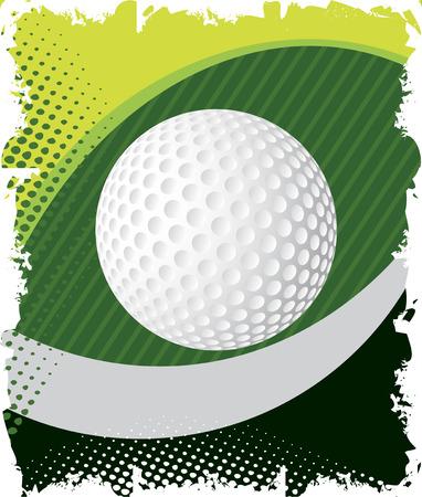 golf tee: Green golof eye Illustration