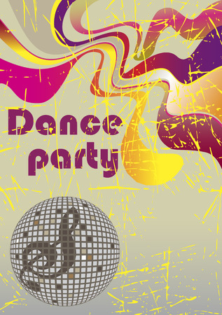 Abstract dance poster Illustration