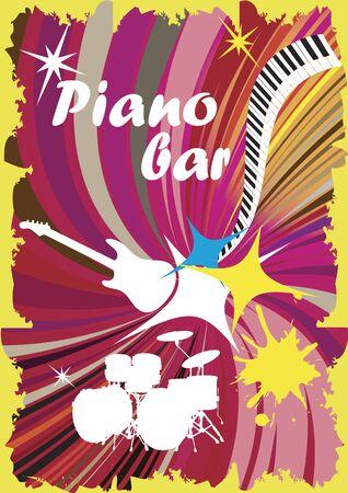 discoteque: Colorful piano bar