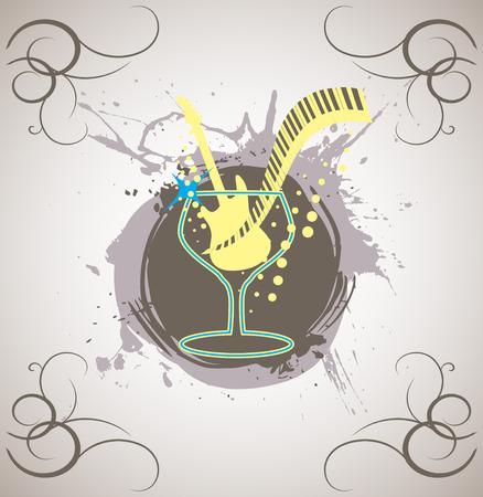 discoteque: Piano bar splash Illustration