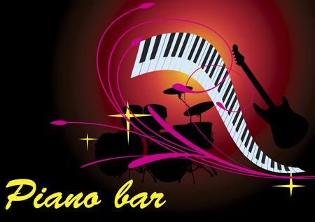 Piano bar Rosa Archivio Fotografico - 39647783