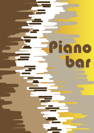 limelight: Abstract piano bar poster
