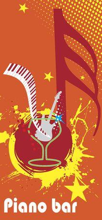 discoteque: Yellow music splash