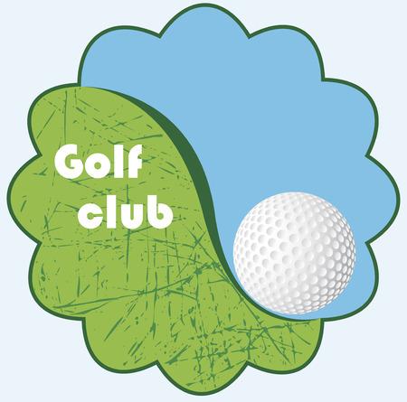 golfclub: Golf club embleem Stock Illustratie