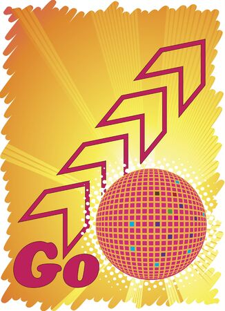 discoteque: Go to party.Dance club poster Illustration