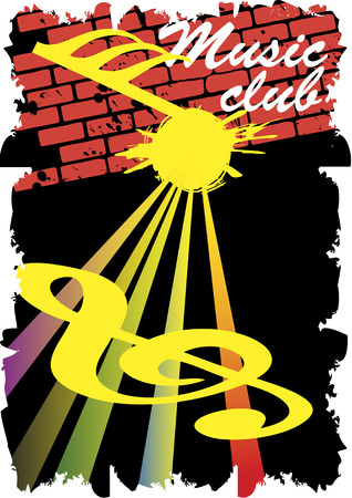 discoteque: Abstract staff.Music club poster.Retro wall.