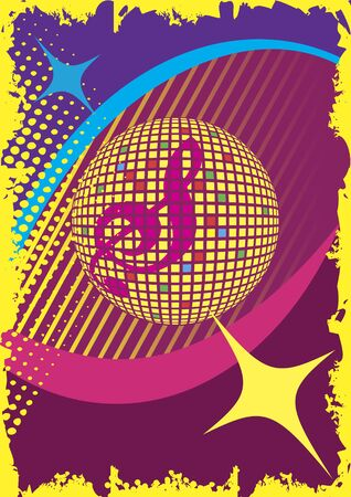 limelight: Abstract dance poster.Party and music club.Music background. Illustration