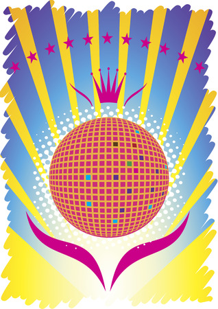 limelight: Abstract party poster.Dance background Illustration