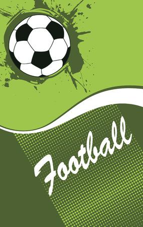 bannière football: Abstract banner de football vertical