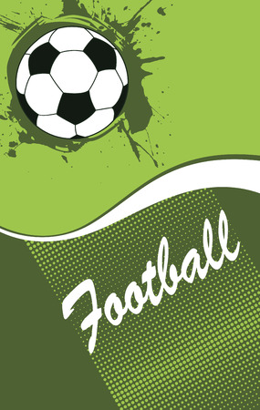 voetbal banner: Abstract verticale voetbal banner