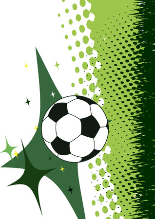 Football poster.Green background with abstract elements.Vertical gridiron