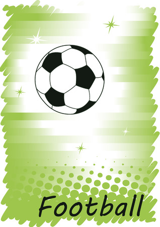 voetbal banner: Vertical football banner with dots.Abstract green background.