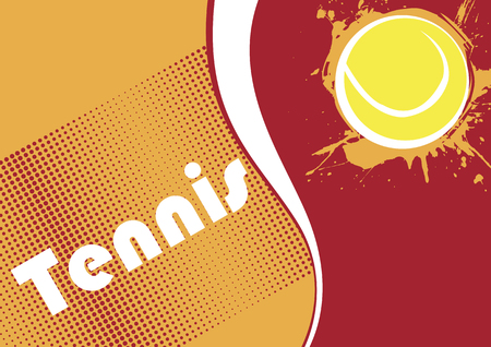 indoor court: Horizontal tennis banner.Abstract dots.Tennis background Illustration
