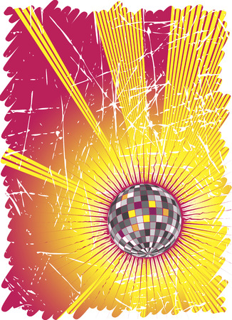 discoteque: Powerful music rays.Dance party poster