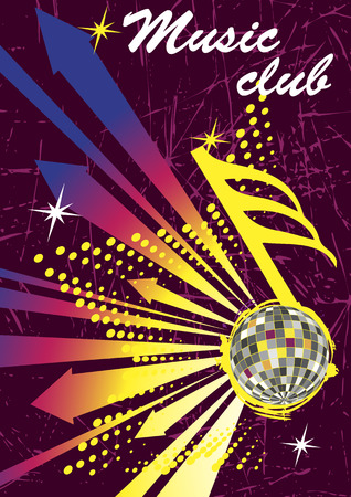 discoteque: Colorful arrows for music club poster.Abstract dance background Illustration