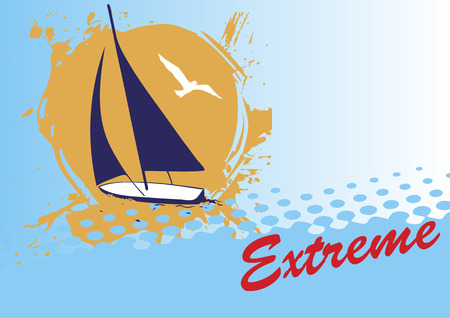Abstract blue background for extreme yacht sport