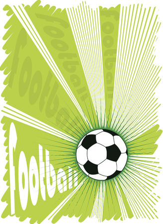 gridiron: Green football explosion.Vector background for posters