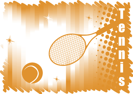 Abstract dichromatic tennis banner for red courts