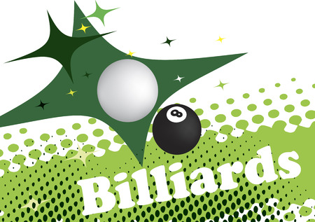poolball: Abstract green background for billiard banner