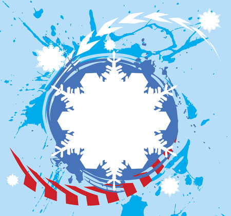 Extreme snowflake.Abstract winter banner Illustration
