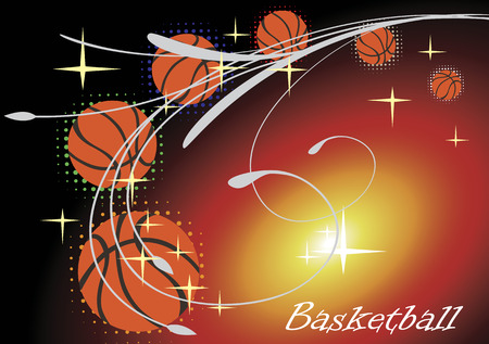 playfield: Horizontal basketball banner with stars