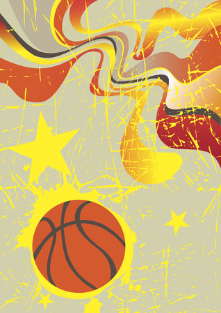 playfield: Abstract vertical basketball banner with yellow stars