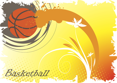 playfield: Basketball abstract flower Illustration