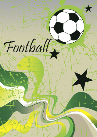 Abstract football poster .Green background