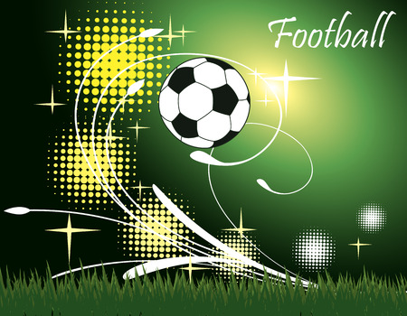 playing field: Football banner.Lighted playing field