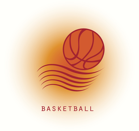 Abstract basketball logo Illustration