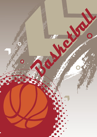 playfield: Vertical basketball banner with big arrow Illustration