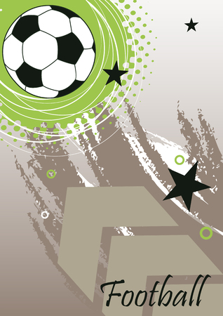 banni�re football: Vertical football banner with big arrow Illustration