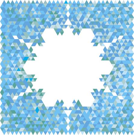 Mountainside: Abstract snowflake Ilustracja
