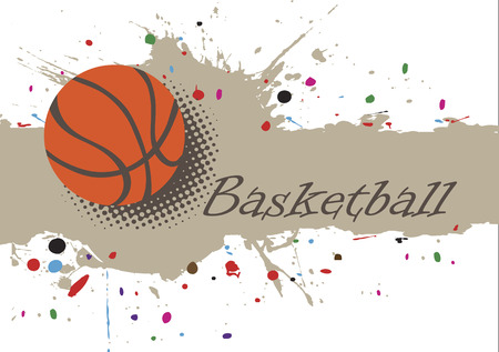 Abstract splash.Basketball  background with colorful dotsund with colorful dots Illustration
