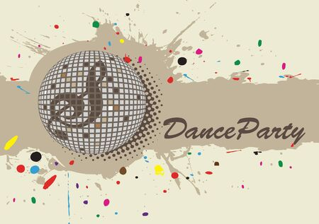 discoteque: Light background for dance party.Colorful dots. Illustration